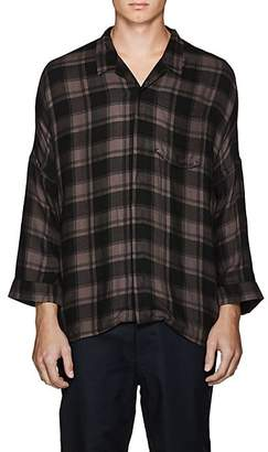 Chapter MEN'S CHECKED CAMP SHIRT - CHARCOAL SIZE L
