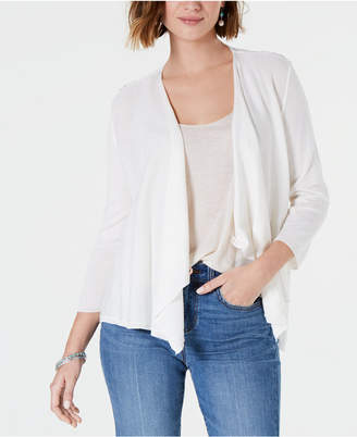 Style&Co. Style & Co Draped Pointelle-Back Cardigan