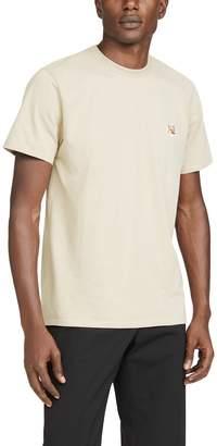 MAISON KITSUNÉ Short Sleeve Tee Shirt with Fox Head Patch
