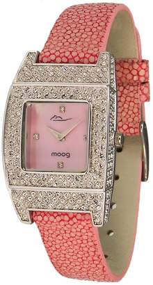 Mother of Pearl Moog Paris Smart Women's Watch with Dial, Galuchat Strap & Swarovski Elements - M44072F-004