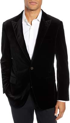 Hickey Freeman Classic Fit Stretch Cotton Velvet Dinner Jacket