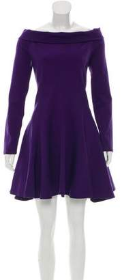 Halston Off-The-Shoulder Mini Dress
