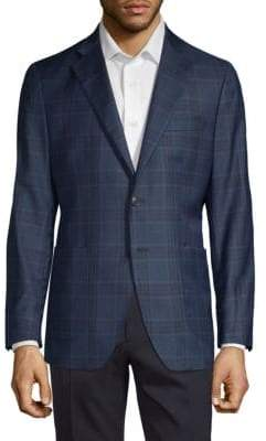 Saks Fifth Avenue Plaid Wool & Silk Jacket