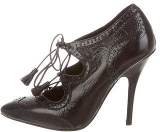 Tory BurchTory Burch Patent Lace-Up Ankle Boots