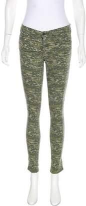 Rag & Bone Mid-Rise Printed Pants