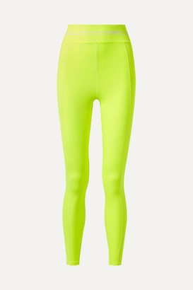 Adam Selman Racer Neon Stretch Leggings