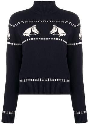 ALEXACHUNG Alexa Chung Horses knitted sweater