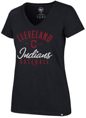 '47 Women's Cleveland Indians Ultra Rival Metallic Script T-Shirt