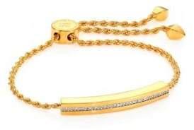 Monica Vinader Linear Diamond Chain Bracelet/Goldtone