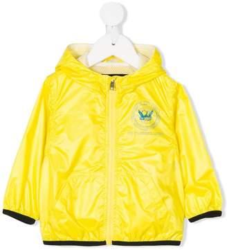 Diesel logo print raincoat