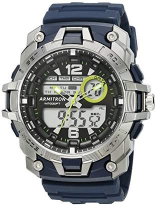 Armitron Sport Men's 20/5157NVY Analog-Digital Chronograph Resin Strap Watch