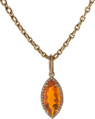 Irene Neuwirth JEWELRY Fire Opal And Diamond Pendant