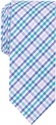 Bar III Men's Multi-Dobby Gingham Skinny Tie, Created for Macy's