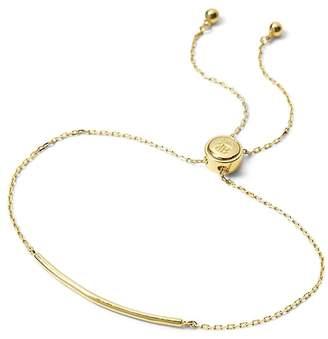 Banana Republic Everyday Luxuries 14k Gold-Plated Bar Slider Bracelet
