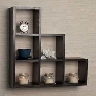 Brayden Studio Bermondsey Stepped 6 Cubby Decorative Wall Shelf