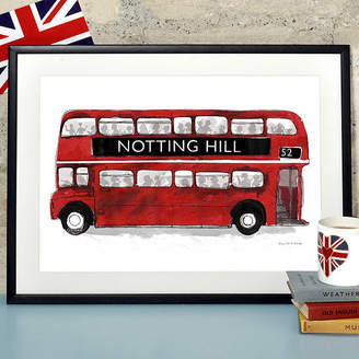 The Alice Tait Shop Alice Tait 'Notting Hill London Bus' Print