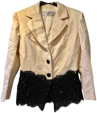 Azzaro Ecru Wool Jacket for Women Vintage