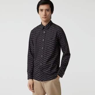 Burberry Logo Print Cotton Shirt