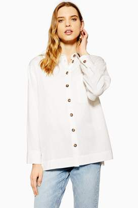 Topshop Womens Casual Shirt - Ivory