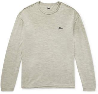 Pilgrim Surf + Supply Logo-Print Mélange Wool-Jersey T-Shirt
