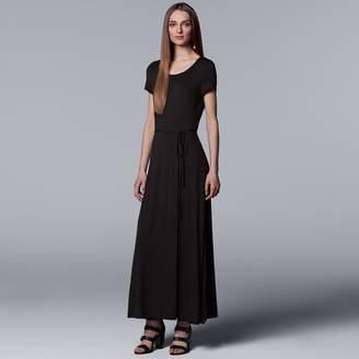 Vera Wang Women's Simply Vera Faux-Wrap Maxi Dress