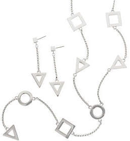 Linea by Louis Dell'Olio Geometric Necklace andEarring Set
