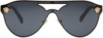 Versace Black Pilot Aviator Sunglasses $285 thestylecure.com
