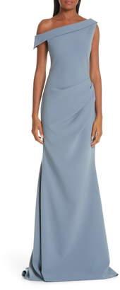 Christian Siriano One-Shoulder Evening Dress