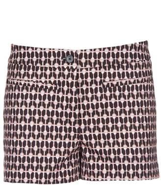 Dondup Printed Gabardine Shorts