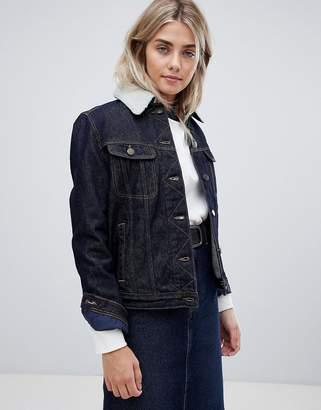 Lee Denim Jacket With Borg Lining