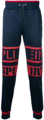 Plein Sport logo tapered jogging bottoms
