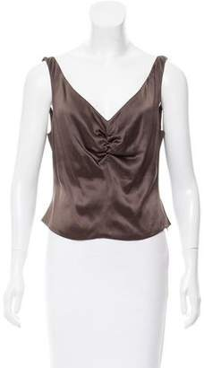 Naeem Khan Sleeveless Gathered Top
