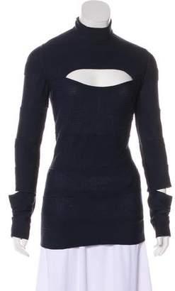 Christian Dior Long Sleeve Cutout Top