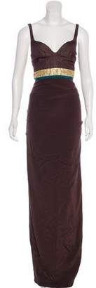 Nicole Miller Evening Ruched Dress
