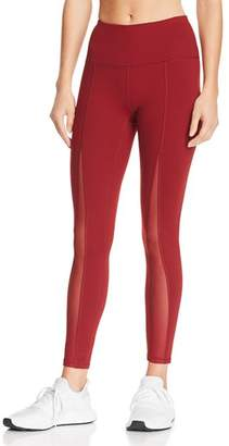 Gaiam X JESSICA BIEL Madison High-Rise Mesh-Inset Leggings