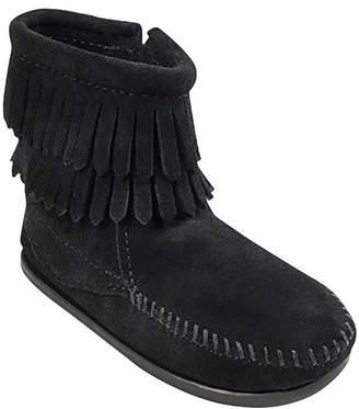 Minnetonka Double Fringe Side Zip Boot - Girls'