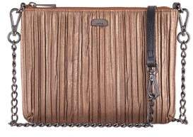 Lodis Pleasantly Pleated RFID Emily Leather Clutch