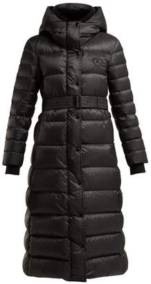 Burberry Kington Quilted Hooded Coat - Womens - Black