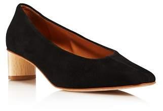 LoQ Women's Frida Almond Toe Suede Mid-Heel Pumps