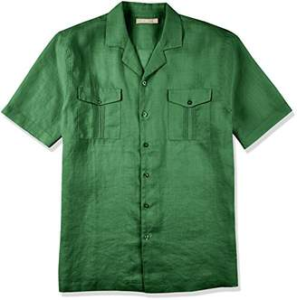 Isle Bay Linens Men's Short Sleeve Standard Guayabera Shirt