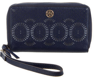 Tory Burch Tory Burch Perforated Leather Wallet