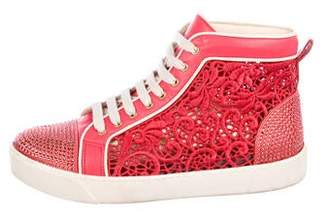 Rene Caovilla Strass Embellished High-Top Sneakers
