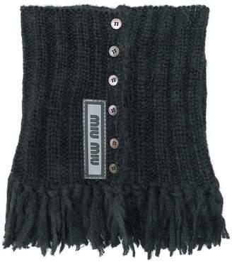 Miu Miu knitted tassel collar