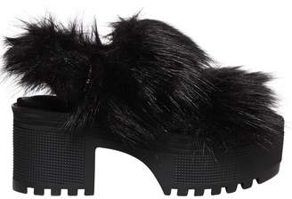 Jeffrey Campbell 70mm Manot Faux Fur Sandals