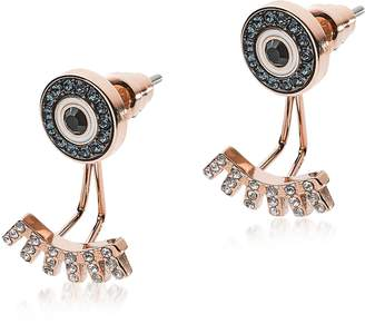 Emporio Armani Rose Gold Stainless Steel and Crystals Fashion Women's Earrings
