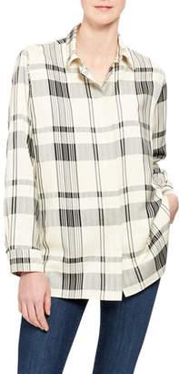 Theory Classic Check Menswear Button-Down Shirt