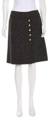 Dolce & Gabbana Tweed Knee-Length Skirt