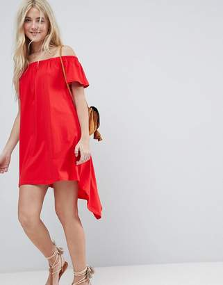 Asos Off Shoulder Sundress with High Low Hem