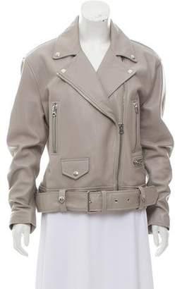 Acne Studios Leather Moto Jacket