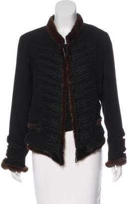 Jean Paul Gaultier Mink-Trimmed Embroidered Jacket